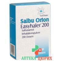 Сальбу Орион Изихалер 200 порошок для ингаляций 0.2 мг 200 доз