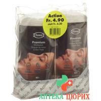 Flawa Premium Vlies-Wattepads Oval 2x 50 штук