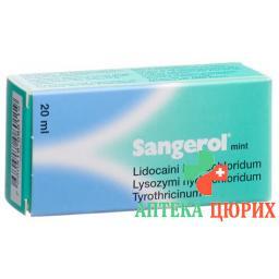 Сангерол мятный 20 млдозируемый спрей для рта без сахара