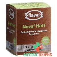 Flawa Nova Haft самоклеющиеся марлевый бинт 1.5смx4m 3 штуки