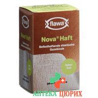 Flawa Nova Haft самоклеющиеся марлевый бинт 8смx4м