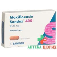 Моксифлоксацин Сандоз 400 мг 10 таблеток покрытых оболочкой