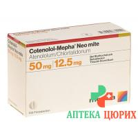 Котенолол Мефа Нео Мите 50 мг / 12,5 мг 100 таблеток покрытых оболочкой