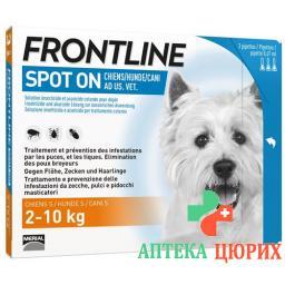 Frontline Spot On Hund S Liste D 3x 0.67мл