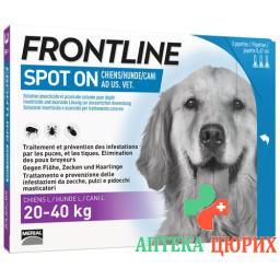 Frontline Spot On Hund L Liste D 3x 2.68мл