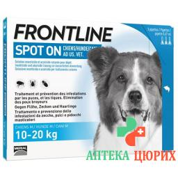 Frontline Spot On Hund M Liste D 3x 1.34мл