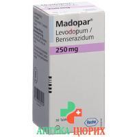 Мадопар 250 мг 30 таблеток
