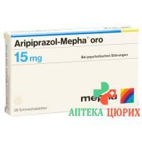 Арипипразол Мефа Оро 15 мг 28 таблеток диспергируемых в полости рта