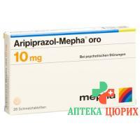 Арипипразол Мефа Оро 10 мг 28 таблеток диспергируемых в полости рта