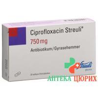 Ципрофлоксацин Штройли 750 мг 20таблеток покрытых оболочкой