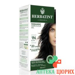 Herbatint Haarfarbegel 1n Schwarz 150мл