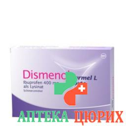 Дисменол Формула Л Форте 400 мг 10 таблеток покрытых оболочкой