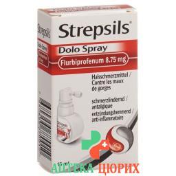 Стрепсилс Доло спрей для горла 8,75 мг / доза флакон 15 мл