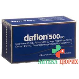 Дафлон 500 мг 120 таблеток покрытых оболочкой