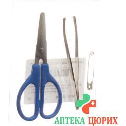 IVF Set mit Sicherheitsnadel, Schere, Pinzette