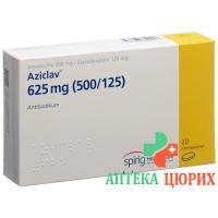 Азиклав 625 мг 20 таблеток покрытых оболочкой