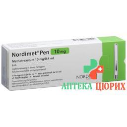 Нордимет раствор для инъекций 10 мг / 0,4 мл предварительно заполненная шприц-ручка 0,4 мл