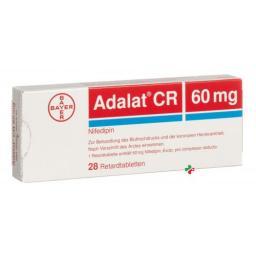 Адалат СР 60 мг 28 ретард таблеток