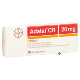 Адалат CR 20 мг 28 ретард таблеток