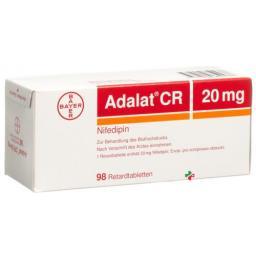 Адалат СР 20 мг 98 ретард таблеток