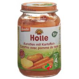 Holle Karotten Kartoffeln nach dem 4. Monat Bio Glas 190г