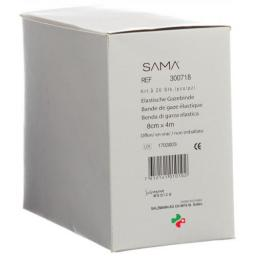 Sama эластичный марлевый бинт 4мX8см Weiss Offen 20 штук