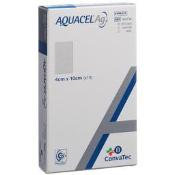 Aquacel Ag Hydrofiber Silber Kompressen 4x10см 10 пакетиков