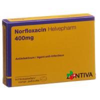 Норфлоксацин Хелвефарм 400 мг 14 таблеток покрытых оболочкой
