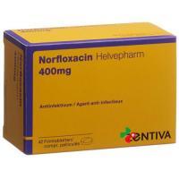 Норфлоксацин Хелвефарм 400 мг 42 таблетки в оболочке