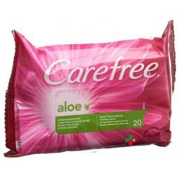 Carefree Aloe Intimpflegetucher 20 штук