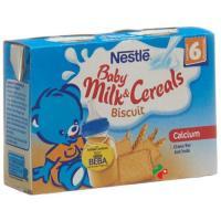 Nestle Baby Milk & Cereals Biscuit 2x 200мл