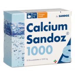 Кальций Сандоз 1000 мг 20 шипучих таблеток