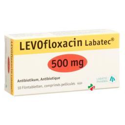Левофлоксацин Лабатек 500 мг 10 таблеток покрытых оболочкой