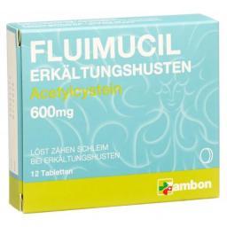 Флуимуцил 600 мг 12 таблеток от простуды и кашля