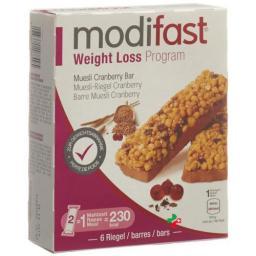 Модифаст программа потери веса мюсли с клюквой6x31 грамм