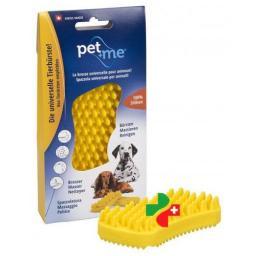 Pet+me Burste Gelb Hunde Kurzhaar