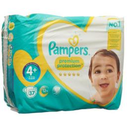 Pampers Premium Prot размер 4+ 9-18кг Sparpack 37 штук
