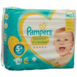 Pampers Premium Prot размер 5+ 13-25кг Sparpack 32 штуки