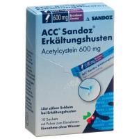 АЦЦ Сандоз от кашля и простуды порошок 600 мг 10 пакетиков