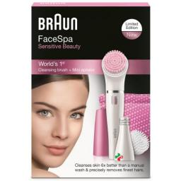 Braun Facespa Sensitive Beauty Face 832-s Weiss/pink