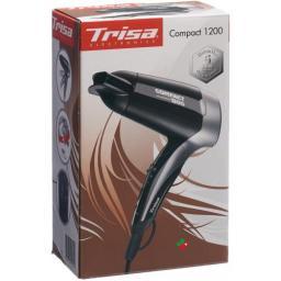 Trisa Haartrockner Compact Smart 1200 Schwarz/silb
