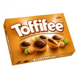 Toffifee карамель & шоколадная Нуга с фундуком 48 штук