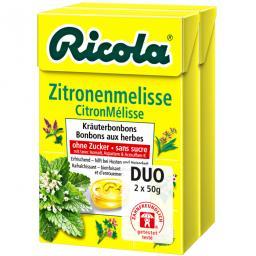 Ricola Bonbons Zitronenmelisse ohne Zuckerzusatz 2x50g