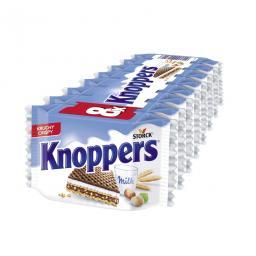 Knoppers вафли молочный шоколад с фундуком 8 штук