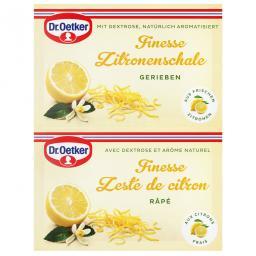 Dr. Oetker Finesse Grated Lemon Zest 2 Pieces