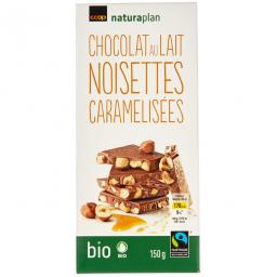 Naturaplan Organic Fairtrade Milk Chocolate Bar with Hazelnuts