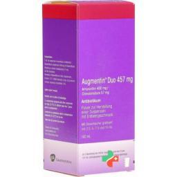 Аугментин Дуо порошок для приготовления суспензии 457 мг флакон 140 мл