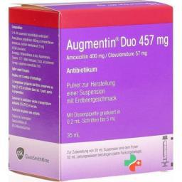 Аугментин Дуо порошок для приготовления суспензии 457 мг флакон 35 мл
