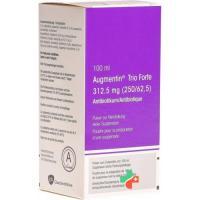 Аугментин Трио Форте порошок для приготовления суспензии 312,5 мг флакон 100 мл