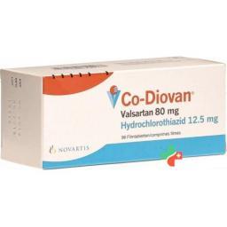 Ко-Диован 80/12,5 мг 98 таблеток покрытых оболочкой